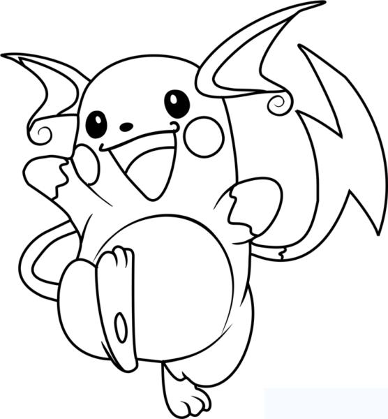 Tranh tô màu pikachu dễ thương nhất