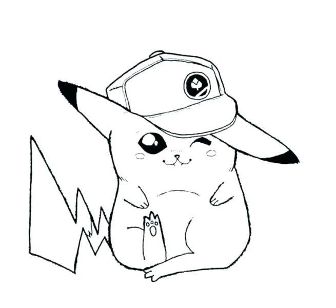Tranh tô màu pikachu ngộ nghĩnh