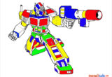 Tranh tô màu robot