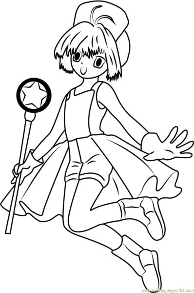 Tranh tô màu sakura - thủ lĩnh thẻ bài đáng yêu nhất