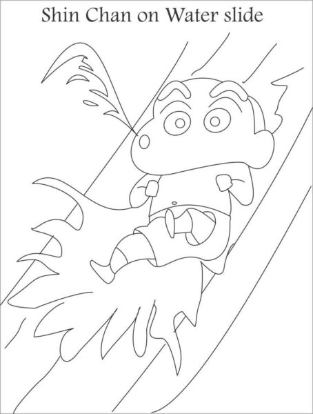 Tranh tô màu Shin cậu bé bút chì đơn giản nhất