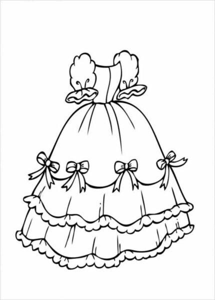 tranh tô màu váy công chúa cho bé gái 7 tuổi