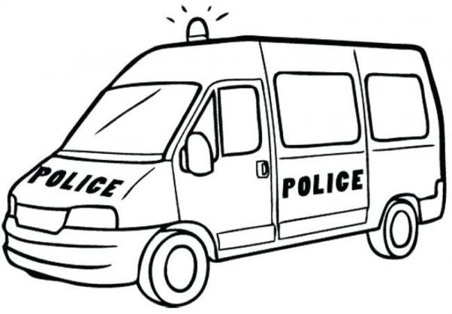 Tranh tô màu xe cảnh sát to nhất cho bé tập tô