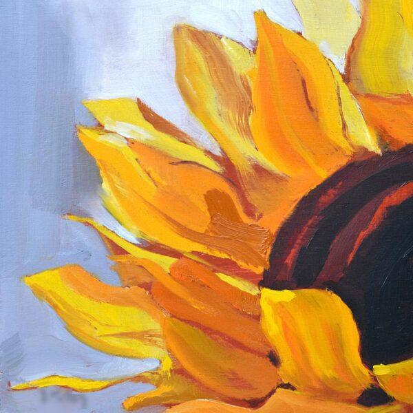 tranh vẽ cánh hoa hướng dương