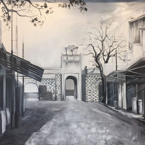 tranh vẽ chì Hà Nội