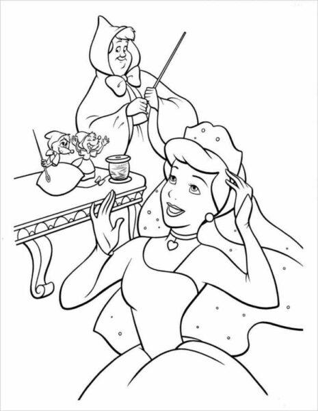 Tranh vẽ đen trắng công chúa lọ lem