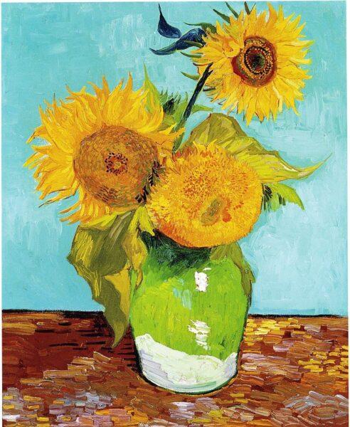 tranh vẽ hoa hướng dương của van gogh
