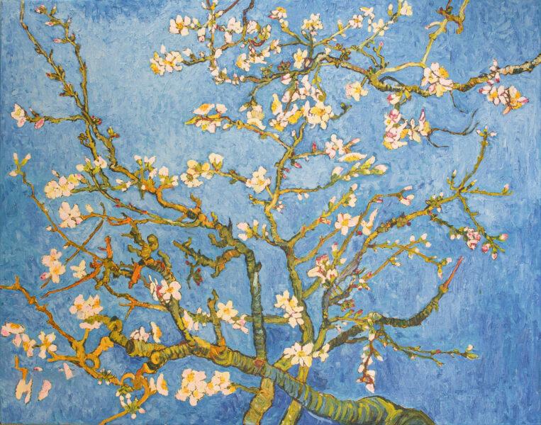 vẽ tranh đề tài mùa xuân hình nhánh đào đẹp