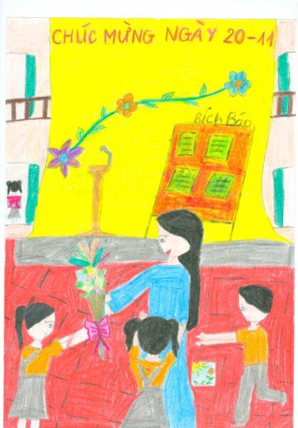 vẽ tranh đề tài nhà giáo việt nam ý nghĩa nhất
