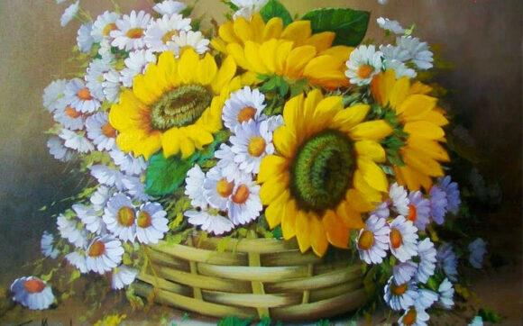 vẽ tranh về đề tài hoa hướng dương