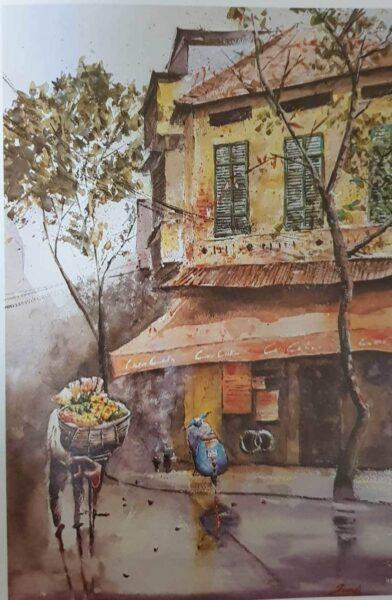 vẽ tranh về Hà Nội đẹp nhất