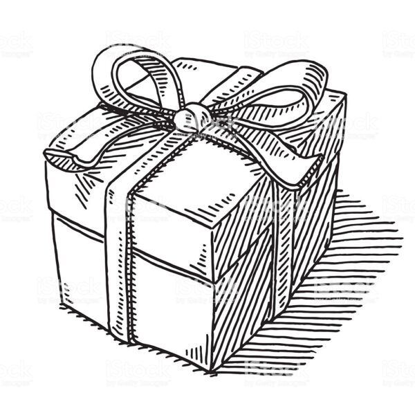 Ảnh hộp quà đẹp cho bé tô màu