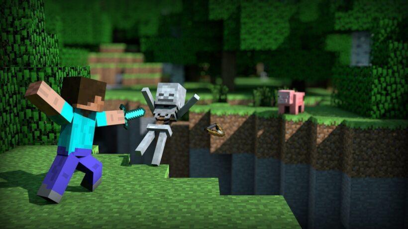 ảnh nhân vật minecraft 3d chiến đấu