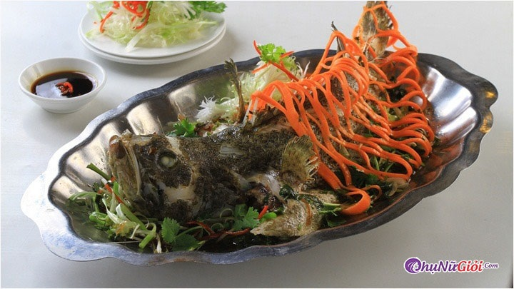 Cách làm cá Vược hấp xì dầu