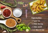 Cách làm cóc lắc muối ớt siêu cay