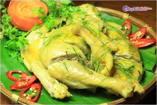 cách làm gà hấp muối sả + rượu trắng