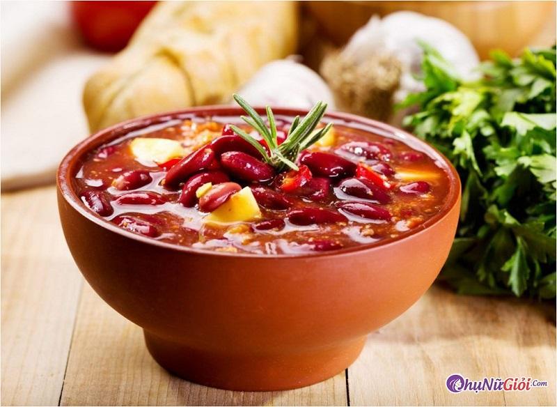 Cách làm món súp đậu đỏ