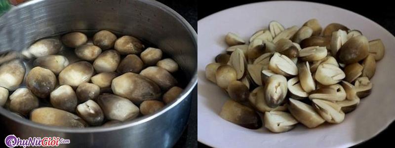 Cách làm nấm rơm kho tộ - Sơ chế nấm