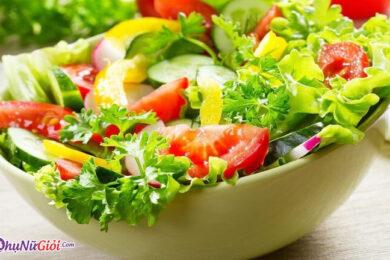 Cách làm salad trộn dầu giấm -Thành phẩm