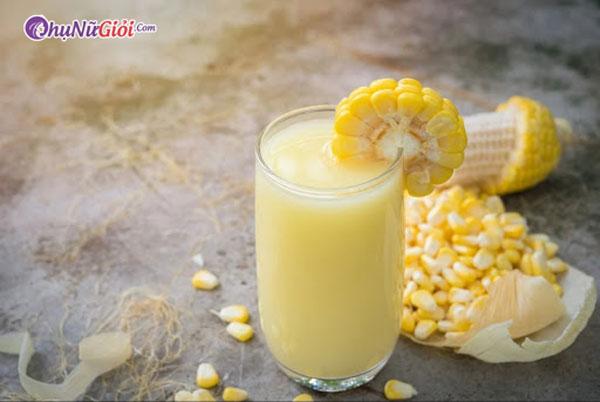 cách làm sữa ngô hạt sen