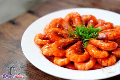 cách làm tôm rim chua ngọt