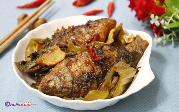 cách nấu cá diếc kho