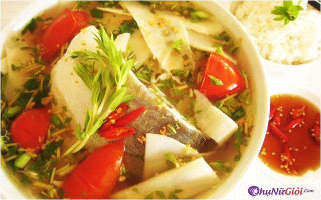 Cách nấu canh măng chua cá lóc