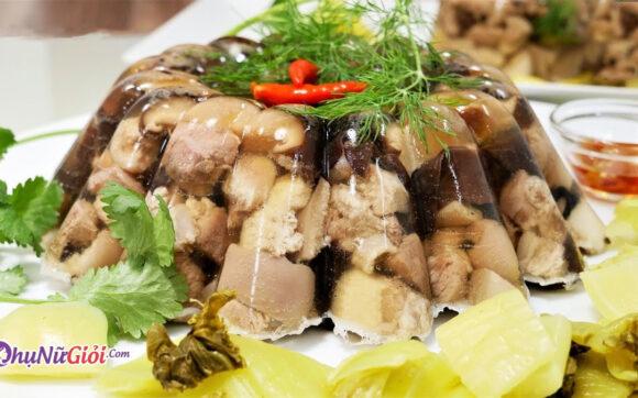 cách nấu thịt đông thơm ngon