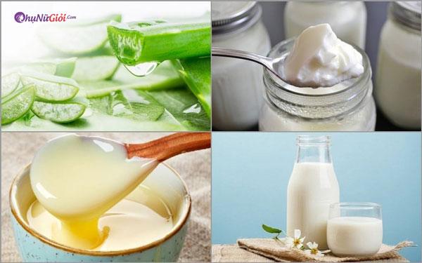 chuẩn bị nguyên liệu làm sữa chua nha đam