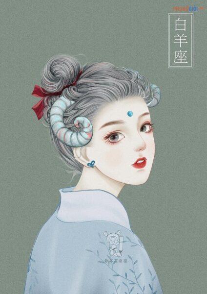 hình ảnh cô gái bạch dương