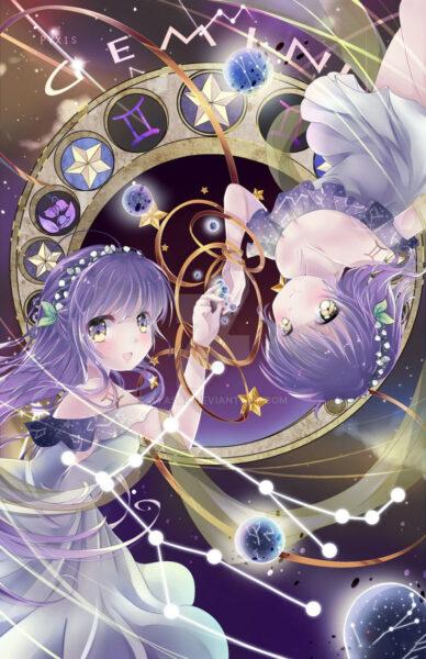 hình ảnh cung song tử manga