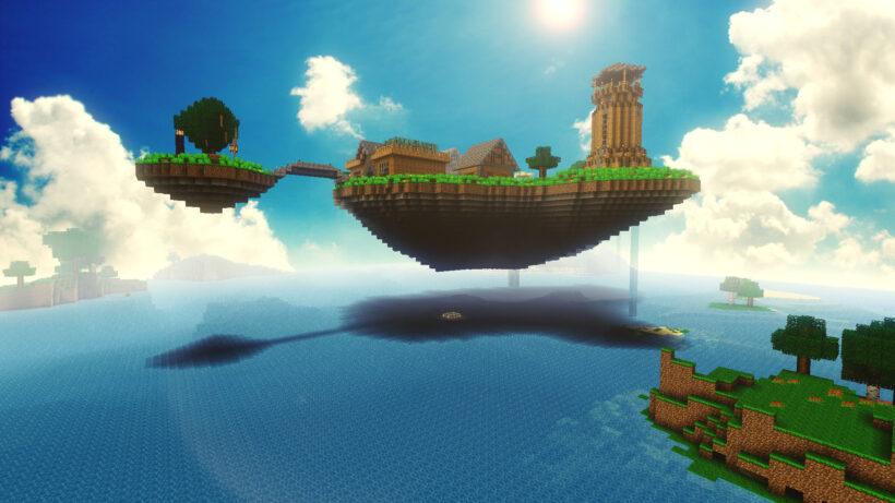 hình ảnh đảo minecraft 3d