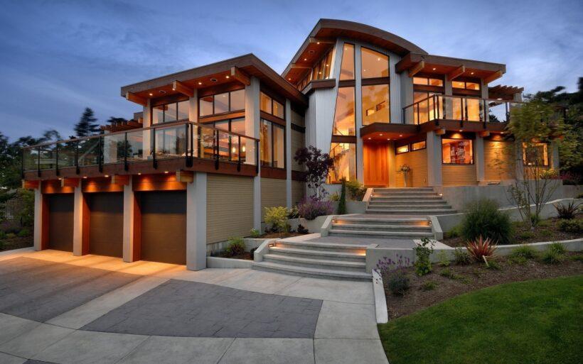 hình ảnh ngôi nhà đẹp bằng kính