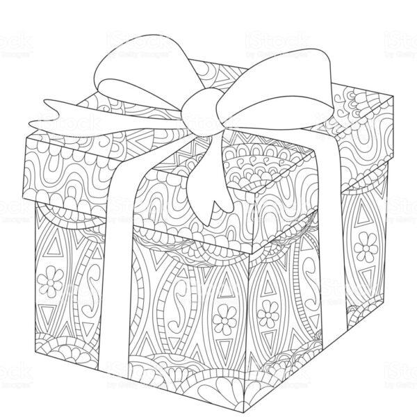 Hình vẽ hộp quà cho bé tập tô