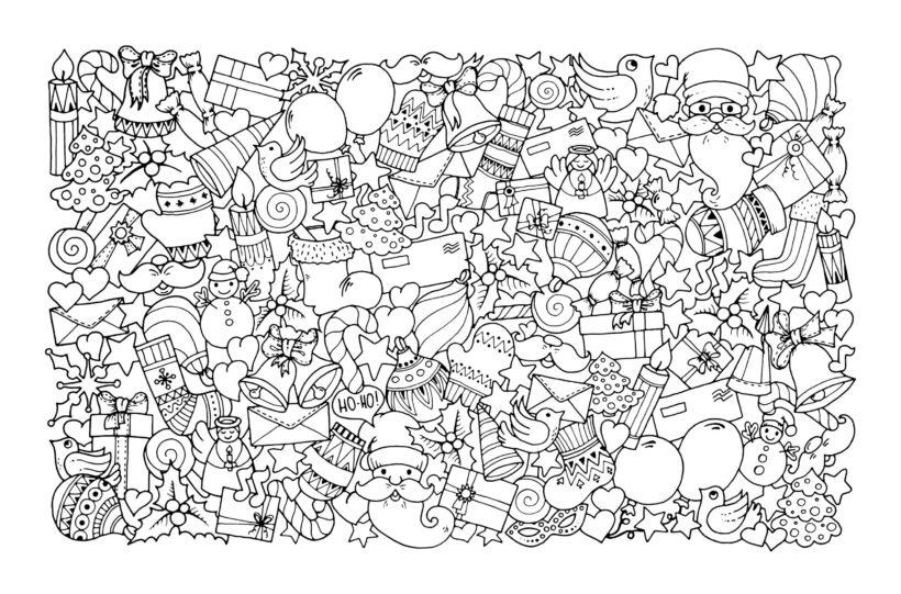 Hình vẽ nhiều hoa văn dành cho người lớn tô màu