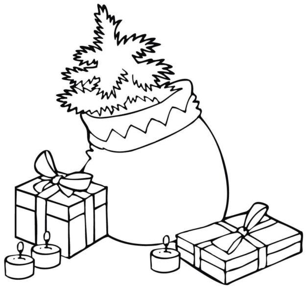 Hình vẽ những hộp quà Noel