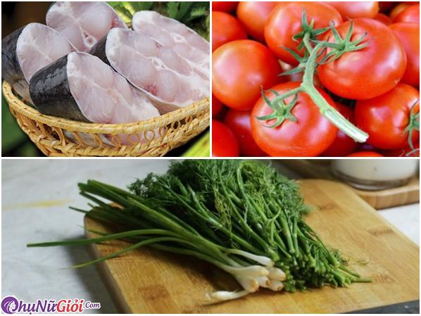 Nguyên liệu làm cá sốt cà chua chuẩn vị