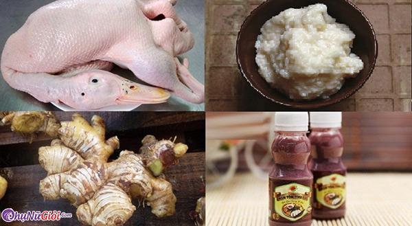 nguyên liệu vịt nấu giả cầy miền bắc