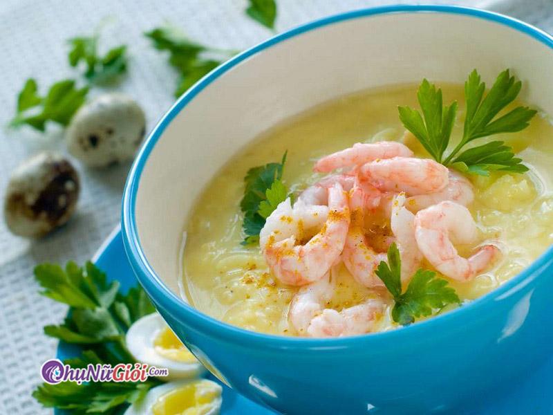 Súp tôm là món ăn thơm ngon và bổ dưỡng