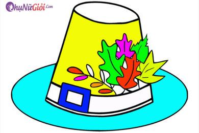 Tranh tô màu cái mũ