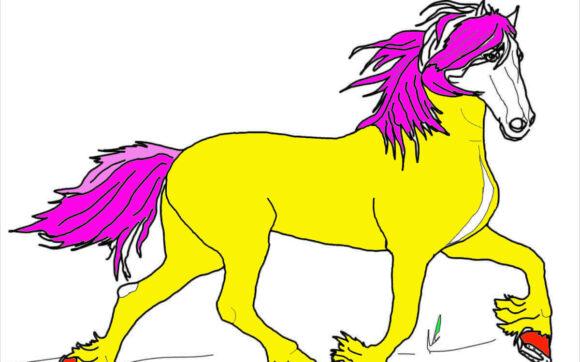 Tranh tô màu con ngựa đẹp nhất