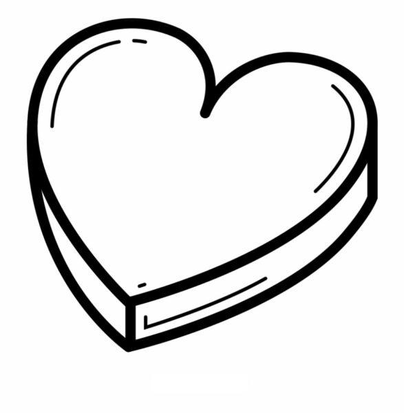 Tranh tô màu hộp quà hình trái tim