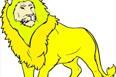 Tranh tô màu sư tử