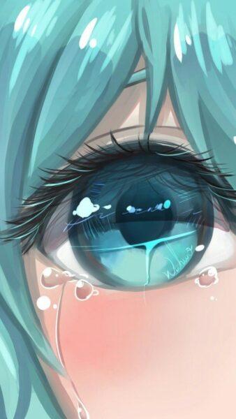 tranh vẽ hình ảnh nước mắt rơi đẹp