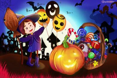 vẽ tranh về đề tài halloween