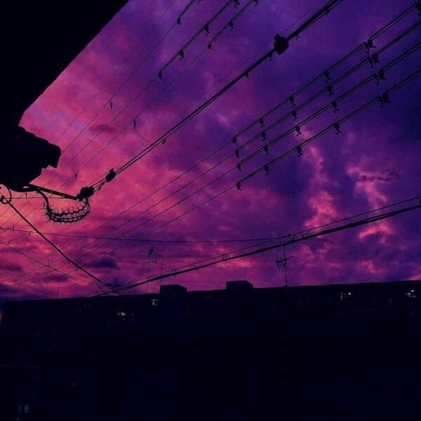 ảnh bầu trời màu tím