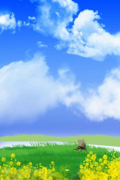 ảnh bầu trời xanh mát