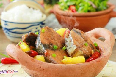 cá ngừ kho nước dừa thơm ngon