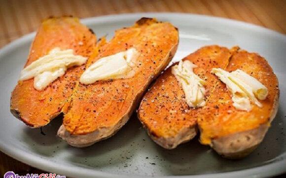 Cách làm khoai lang nướng mộc bằng lò nướng - Thành phẩm