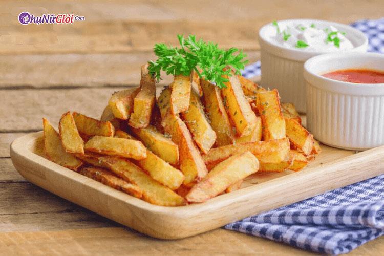 cách làm khoai tây chiên tại nhà
